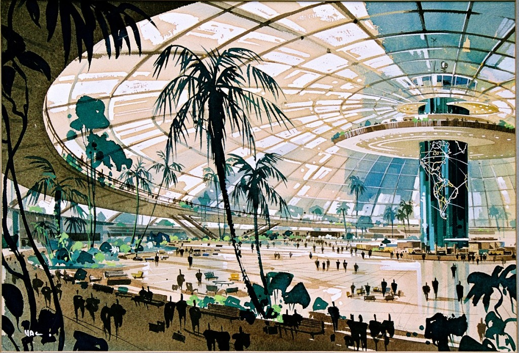 Pereira and Luckman, LAX original plan, 1952, Courtesy of LAWA Flight Path Learning Center.