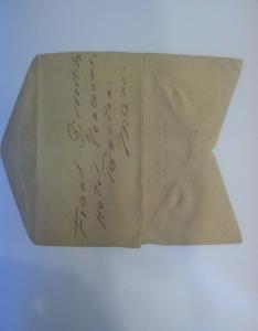 Penciled Envelope